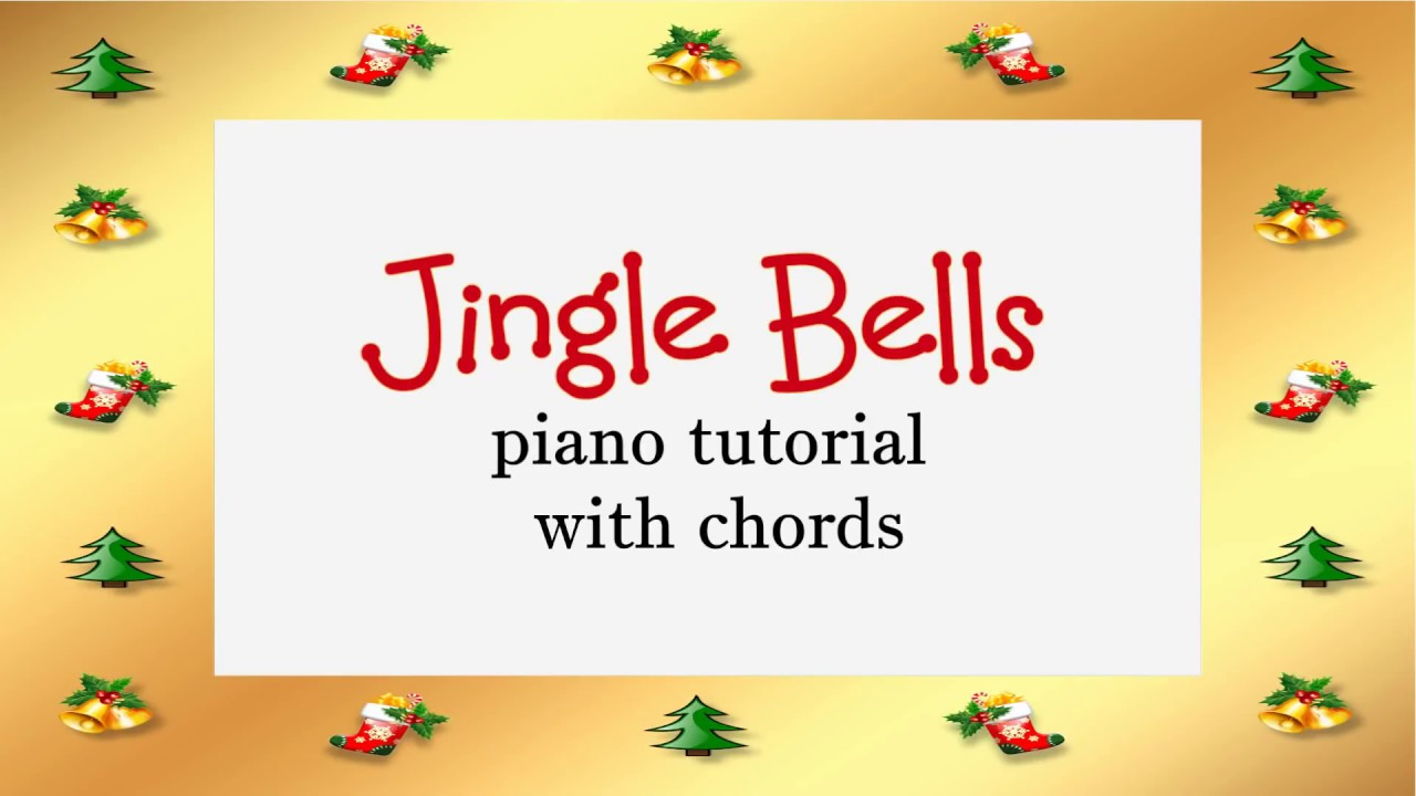 Jingle Bells piano tutorial with chords and free sheet music