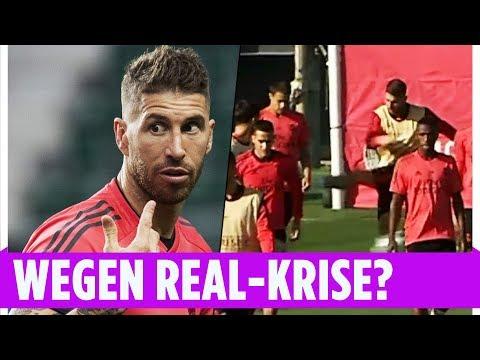 Ramos rastet im Training gegen Jugendspieler aus I Training I Real Madrid