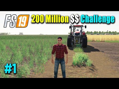 200 Million Dollar Challenge Part 1, Taking Multiple Contracts, Buying Land, FS19 Nebraska Map