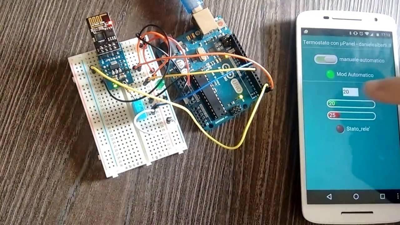 Ben noto Termostato con uPanel e Arduino - YouTube DA51
