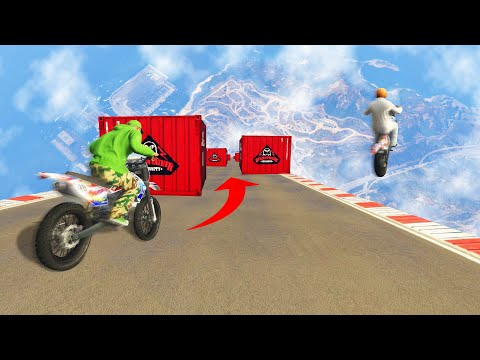CAN YOU DODGE OBSTACLES ON A VERTICAL RAMP?! (GTA 5 Funny Moments)
