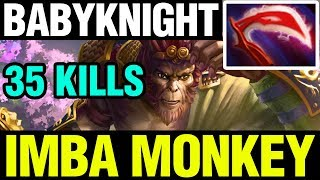 IMBA MONKEY - BabyKnight Plays Monkey King WITH 35 KILLS - Dota 2