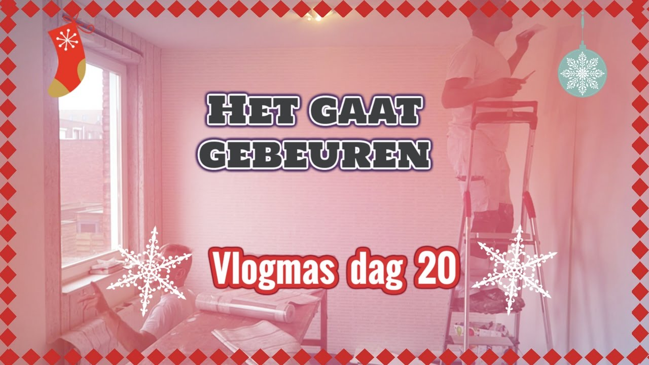 Mijn kamer behangen vlogmas 20 vlog 62 youtube for Kamer laten behangen