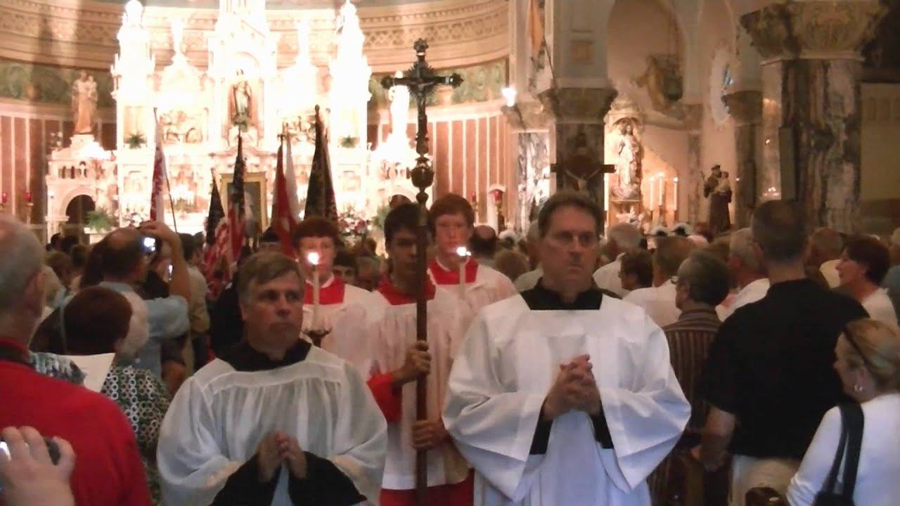 Recessional procession after first St Casimir Mass - YouTube