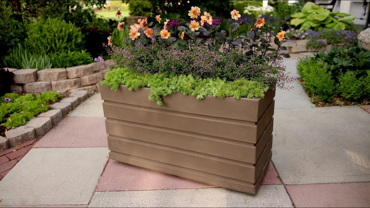 Planting In A Rectangular Container Garden Answer