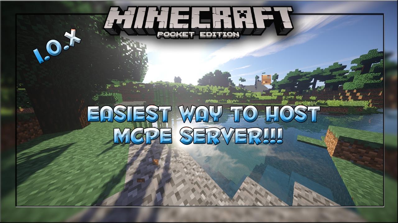 host a minecraft pe server