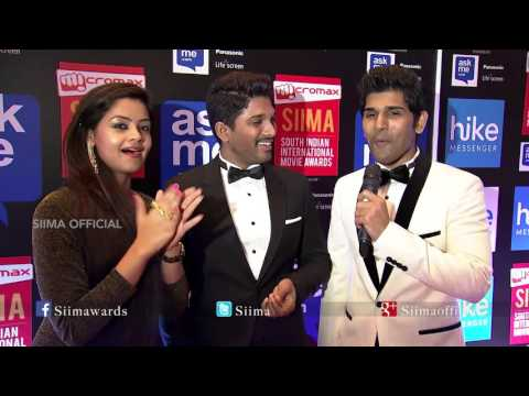 Allu Arjun & Allu Sirish Talking About SIIMA | Red Carpet | SIIMA 2015 | Malayalam