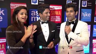 Allu Arjun & Allu Sirish Talking About SIIMA | Red Carpet | SIIMA 2015 | Malayalam