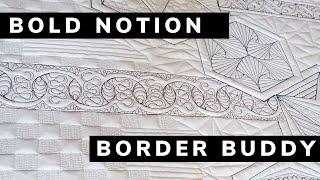Snail Trail Border Buddy Ruler Quilting Design