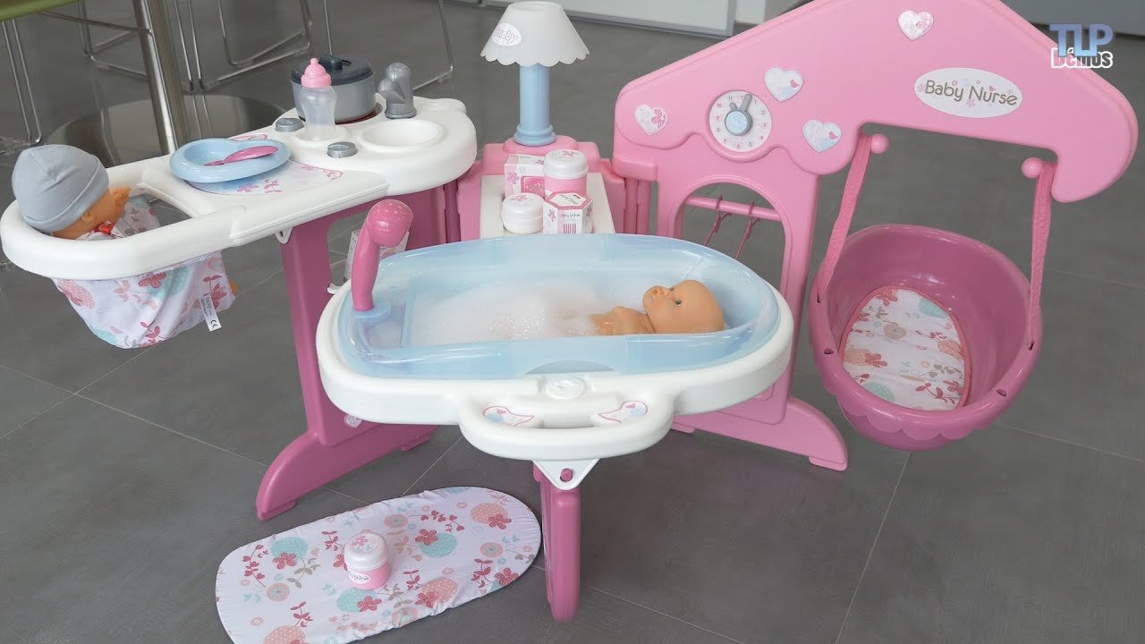smoby baby nurse maison des b b s d mo du jouet en fran ais youtube. Black Bedroom Furniture Sets. Home Design Ideas