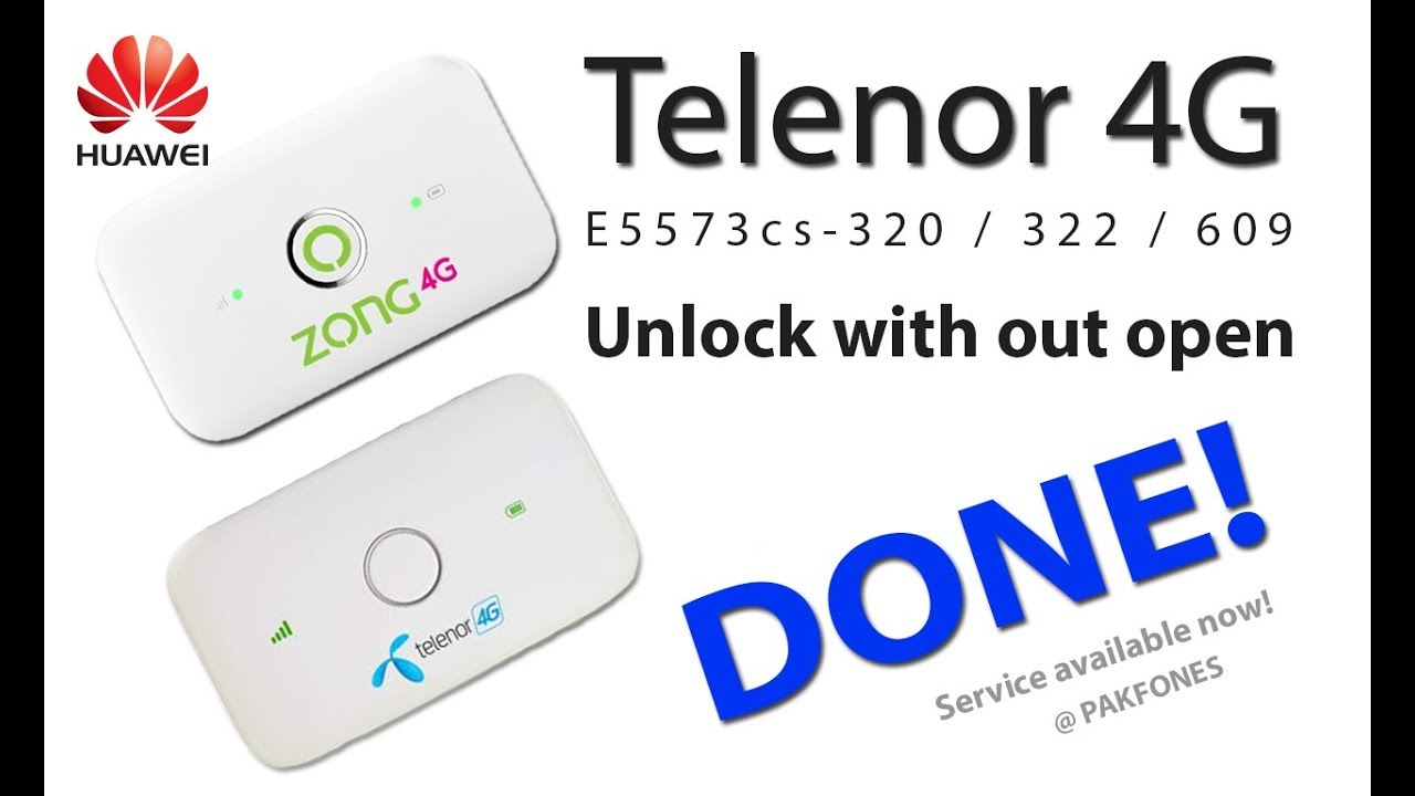 Telenor 4G Device unlock without open