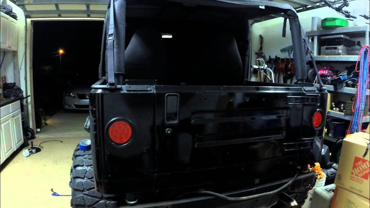 Jeep Tj Led Tail Light Conversion Youtube