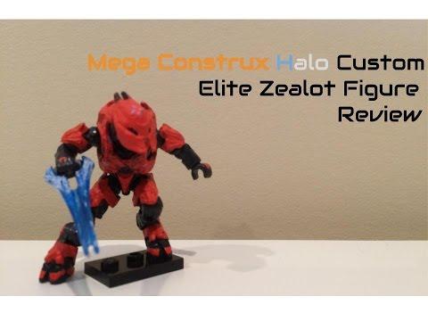 Mega Construx Halo Custom Zealot Figure Review
