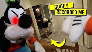EVIL GOOFY TOOK MY CAMERA AND RECORDED ME!! *AT MY OWN HOUSE*