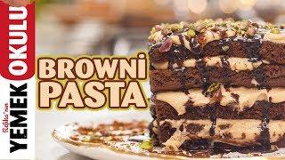 """Browni Pasta Tarifi Son Dakika Pişirmeden Kolay """" Kutlama Pastası"""" Yapımı"""