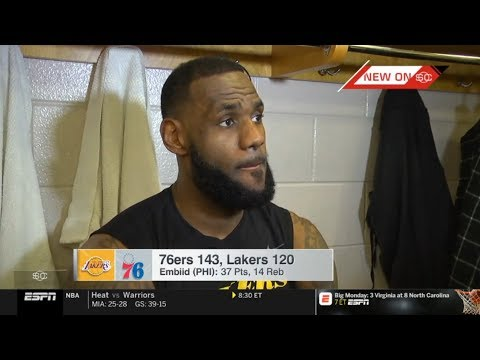 LeBron HEART ATTACK 'Embiid 37-pt, 76ers BLOW OUT LeBron, Lakers Despite Kuzma's 39-pt   ESPN SC