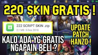 JOS! 222 Script Skin Gratis Mobile Legends Terbaru !!!