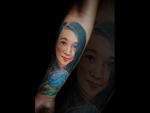Dice Ceballos- Colored Portrait Time-lapse Tattoo