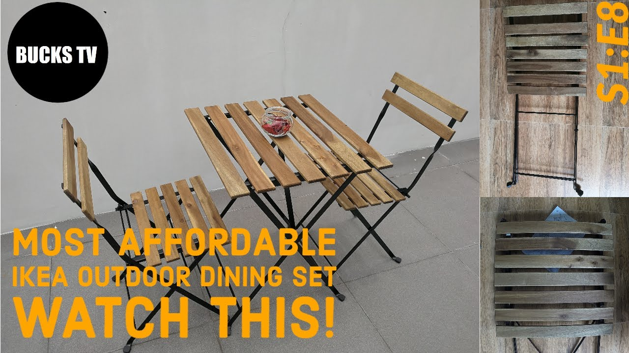 s1 e8 ikea tarno outdoor table 2 chairs product review and assembly