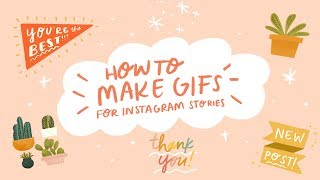 How To Make Illustrated Gif Stickers With Procreate!