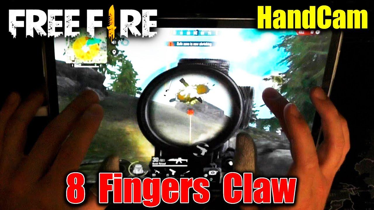 8 Fingers Claw + HandCam | 23 Kills Solo VS Squad. Free Fire