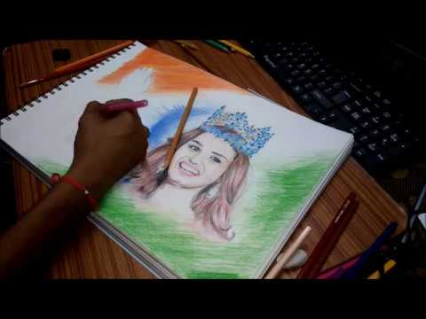 Painting Relaxes her Manushi Chillar