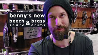 Benny Greb demos his new Sonor signature snare drums with MonoRail dampeners