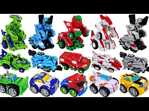 Jumping robot Leap Changer and Transformers Rescue Bots playing with obstacles! #DuDuPopTOY