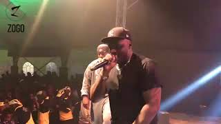 Khaligraph Jones performs at the #GuinnessFanzone in Nakuru
