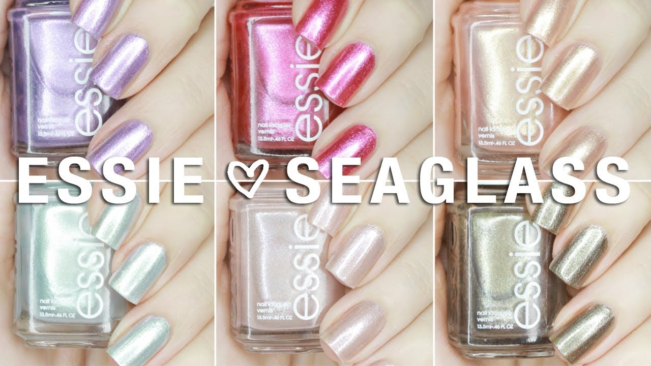 NEW Essie Seaglass Shimmers Summer 2018 Collection | Live Swatches + ...