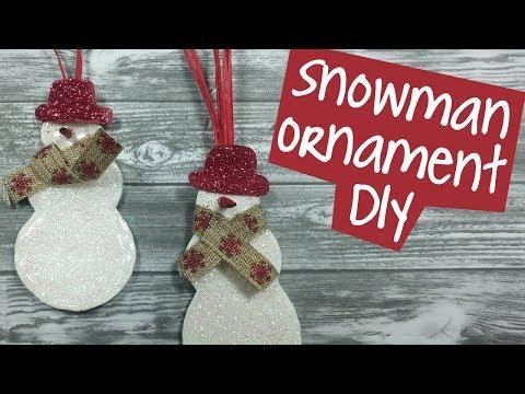 Make Snowman Christmas Ornament