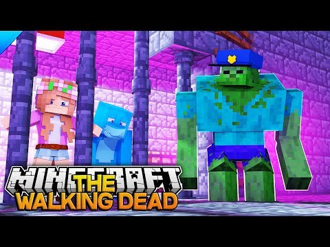 WE ARE TRAPPED BY A GIANT MUTANT ZOMBIE!! Minecraft THE WALKING DEAD w/ Little Kelly