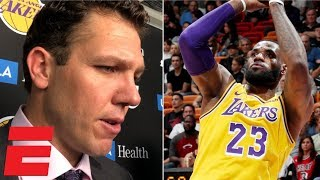 Luke Walton reacts to LeBron James' 51-point game | NBA Sound