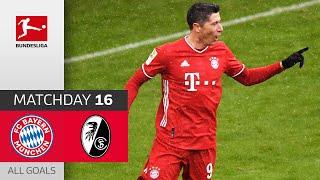Lewandowski Record 21st Goal | FC Bayern München - SC Freiburg | 2-1 | All Goals | MD16 – Bundesliga