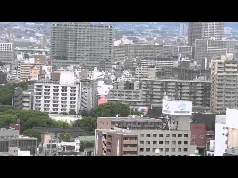 A view of Osaka skyline from the Osaka castle by Arif Herekar