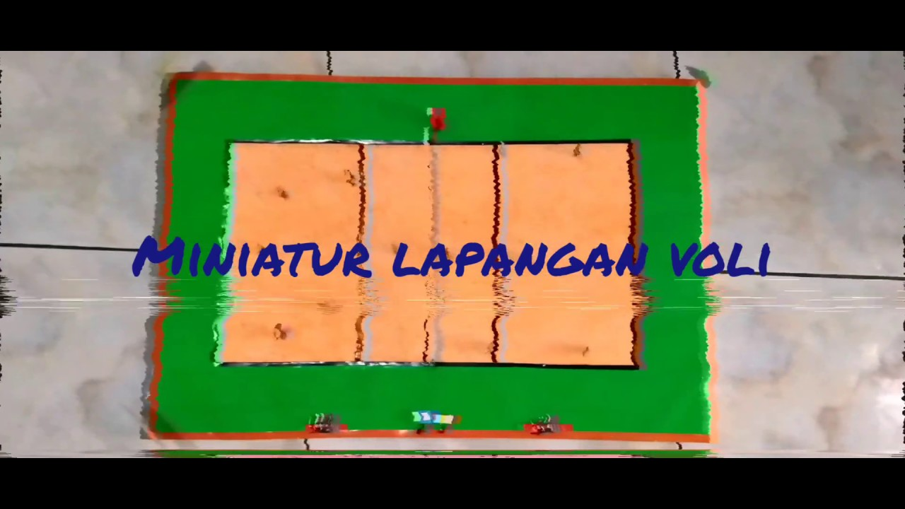 Miniatur Lapangan Voli Smp Bpk Thi Bandung Youtube