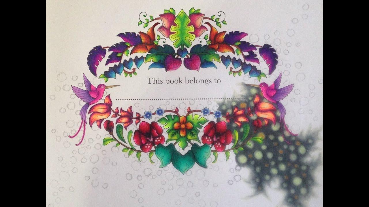 Johanna Basford Magical Jungle Colouring Image Part 6