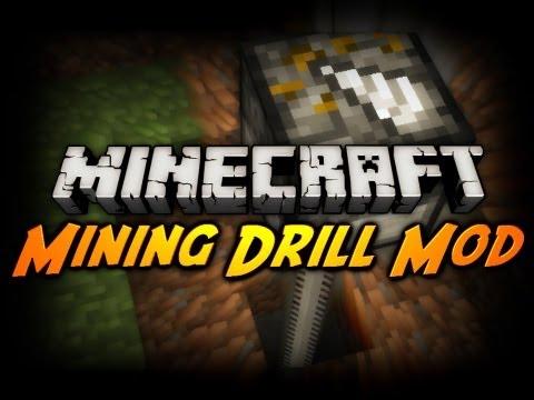 Minecraft Mod Review: MINING DRILL MOD!