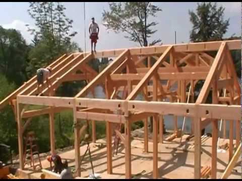 Timber frame cottage raising in pennsylvania youtube for Timber frame bungalow