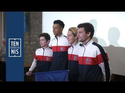 Winter Cup 2019 - U16 garçons - La minute bleue n°2 : entrainement et tirage | FFT
