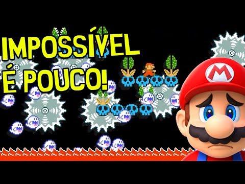 MINHA HONRA ESTÁ LAVADA: DUAS FASES 99% IMPOSSÍVEIS! – Super Mario Maker (SUPER CHEIO DE MARRA)