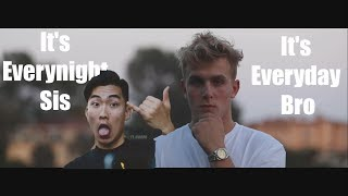 It's Everyday Bro and It's Everynight Sis played at the same time | Jake Paul & Ricegum