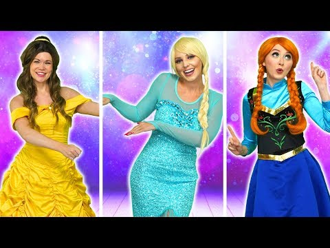 ELSA VS ANNA VS BELLE DANCE COMPETITION Totally TV Challenge