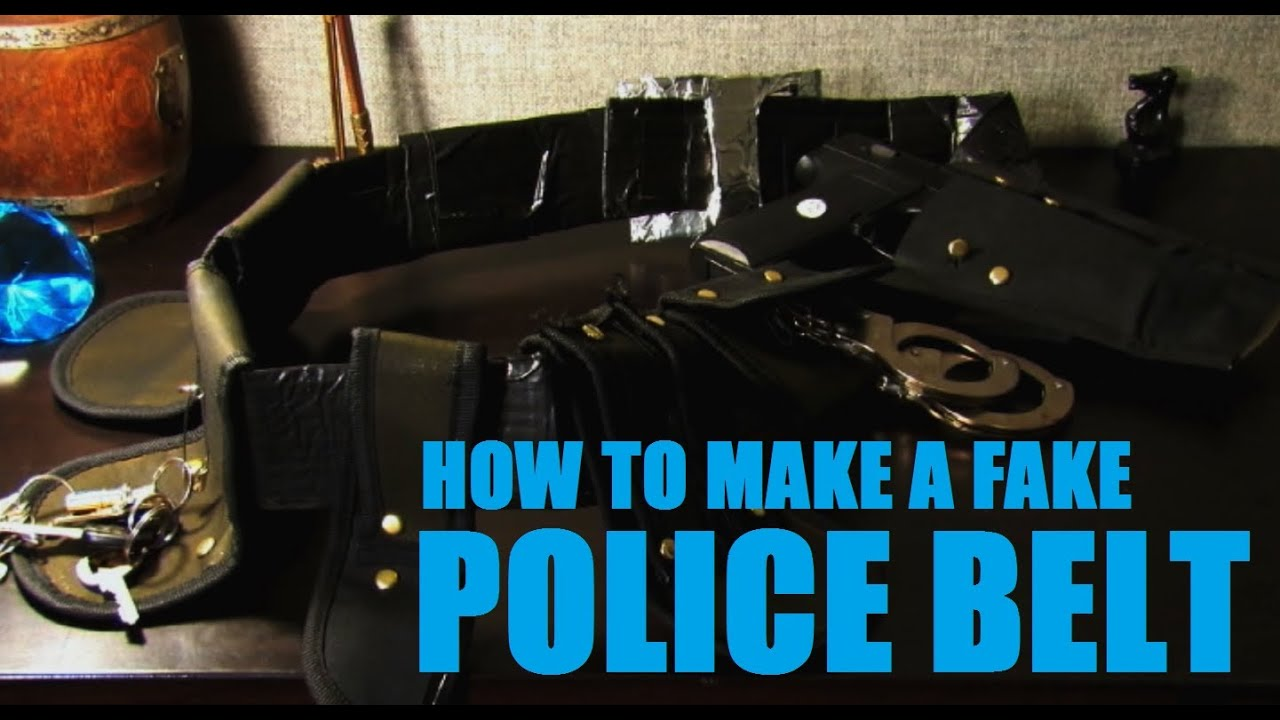 how to make a police belt with cardboard and tool holders youtube