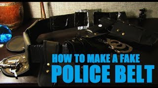 How To Make A Police Belt With Cardboard And Tool Holders