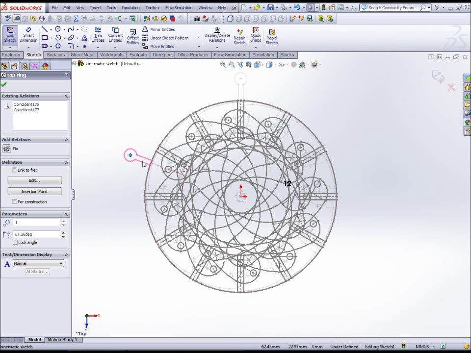 Iris diaphragm mechanism solidworks kinematic trial for Design table not working solidworks