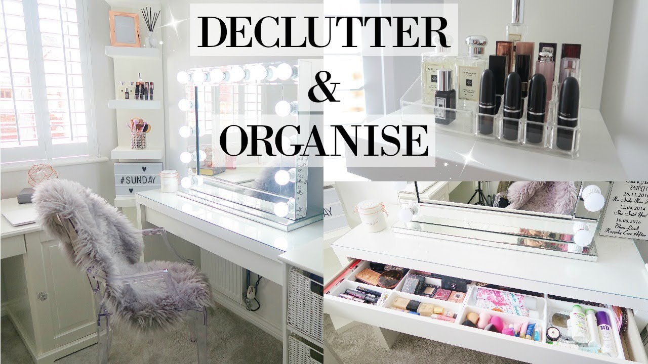 Declutter Organise My Makeup And Dressing Table 2018 Organize With Me Mrs Smith Co