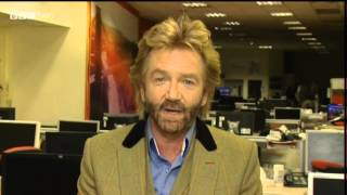 Noel Edmonds on Newsnight wanting to buy the BBC - says he does not have a TV Licence