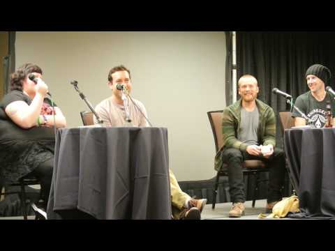 Lou Taylor Pucci, Chris Marquette, & Kyle Labine at Texas Frightmare Weekend 2014