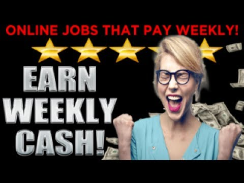 Earn Easy WEEKLY CASH! Melecia At Home Over 30 Online Jobs That Pay DAILY  Or WEEKLY Cash YXuUhCMJ9Ok
